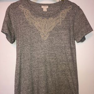J. Crew T-Shirt with Beaded Detailing